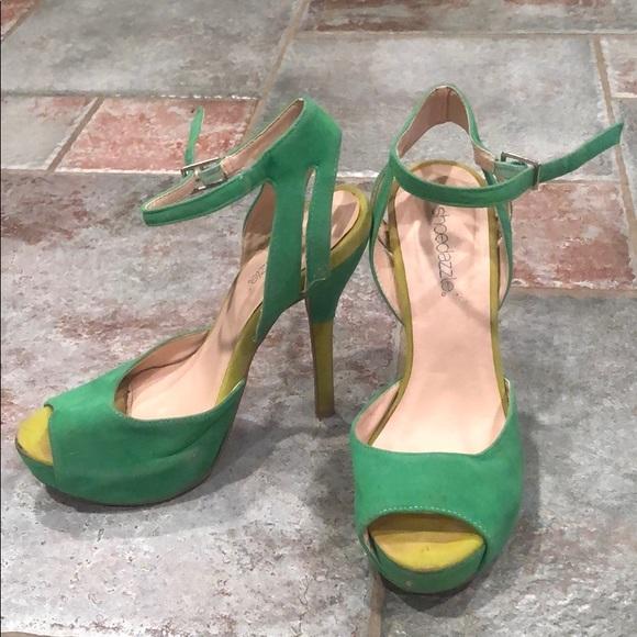 favorable price fashion style of 2019 cozy fresh Green Stilettos
